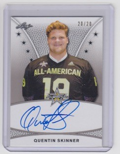 2019 Leaf Army All American Quentin Skinner on card Tour Auto 20/20