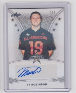 2019 Leaf Army All American Ty Robinson Tour Auto /7