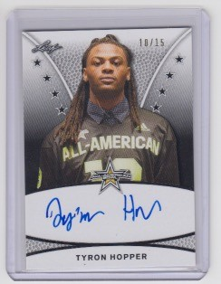 2019 Leaf Army All American Tyron Hopper Tour on card Auto /15