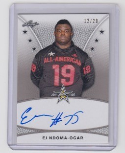 2019 Leaf Army All American EJ Ndoma- Ogar on card Tour Auto /20