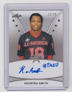 2019 Leaf Army All American Keontra Smith tour  auto /20