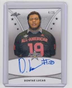2019 Leaf Army All American Dontae Lucas tour  auto /20