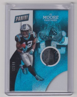 2018 Panini National DJ Moore rookie Shimmer Glove Patch rc