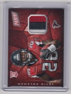 2015 Panini Cyber Monday Tevin Coleman rookie 3 color Patch rc