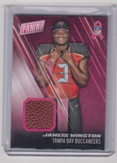 2016 Panini Day Jameis Winston Breast cancer awareness game used Ball
