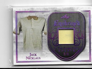 2018 Leaf In the game used Jack Nicklaus Match worn shirt card /9