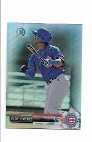 2017 Bowman Chrome Mini Edition Eloy Jimenez prospect Blue Refractor /70