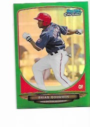 2013 Bowman Chrome Mini Edition Brian Goodwin prospect GREEN Refractor /75