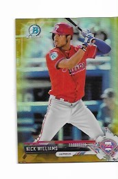 2017 Bowman Chrome Mini Edition Nick Williams prospect GOLD Refractor /50