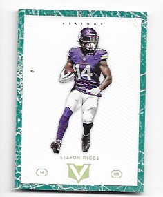 2017 Panini Vertex Stefon Diggs Green Border parallel /5