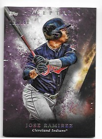 2018 Topps Inception Jose Ramirez Purple Parallel /150