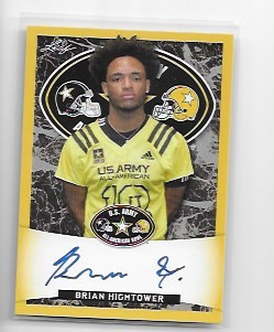 2018 Leaf Army All American Brian Hightower Gold Parallel auto /10