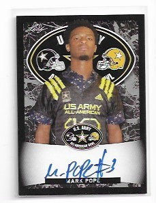 2018 Leaf Army All American Mark Pope Black Parallel auto /15
