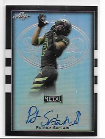 2018 Leaf Army All American Patrick Surtain Black Refractor Auto /12