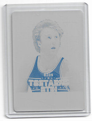 2018 Leaf national Larry Bird valiant greatest hits Printing plate 1/1