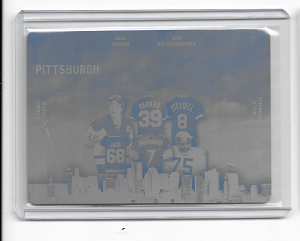 2018 leaf city of champions plate 1/1 Lemieux , Big BEN, Greene, Jagr, stargell