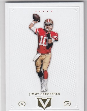 2017 Panini Vertex Jimmy Garoppolo card .  first 49ers card