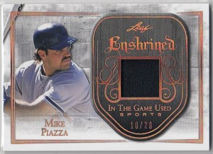 2018 Leaf in the game Used Mike Piazza Game worn Jersey card /20