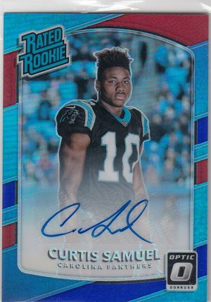 2017 Optic Rated Rookies Preview Autographs #196 Curtis Samuel Auto /23