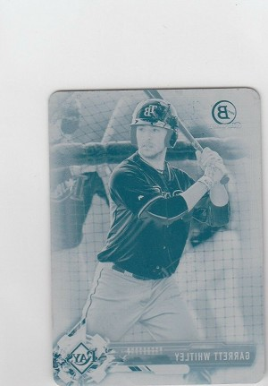 2017 Bowman chrome mini edition Garrett Whitley prospect Printing plate rc 1/1