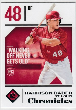 2018 Panini Chronicles #43 Harrison Bader Rookie rc