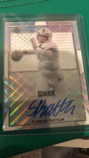 2019 Leaf All-American Spencer Rattler Silver Wave Auto 1/1
