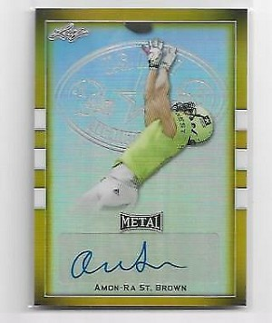 2018 Leaf Army All American Amon-Ra St. Brown GOLD Refractor auto 2/2